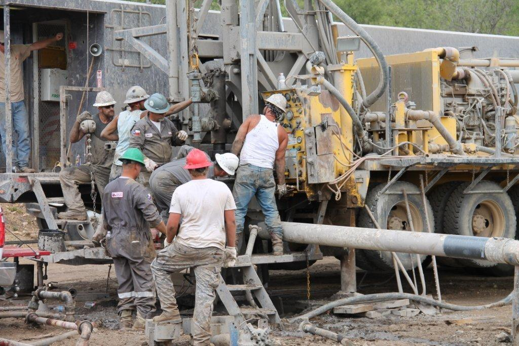 Drilling and cement crew preparing to cement