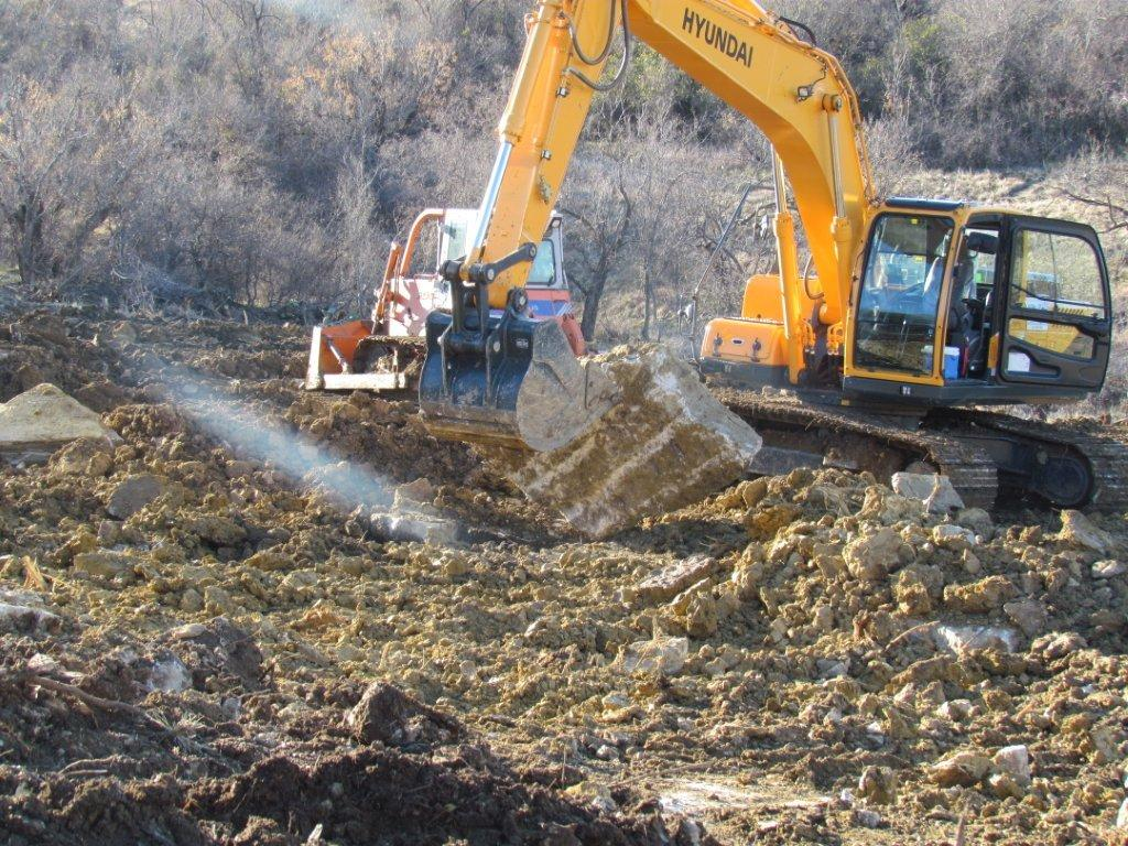 Excavating new drill site